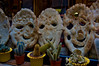 Bread faces in a shop in venice. They are very happy. Angela asked me to take it. Neither of us even noticed the potted cacti.